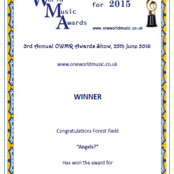 2015 OWMR award Forest Field